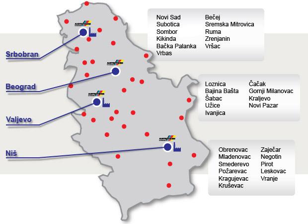 mapa vranje srbija Kupovina u maloprodaji | Austrotherm   EPS i XPS termoizolacija mapa vranje srbija