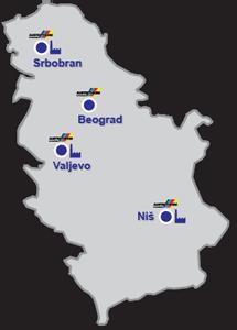 mapa srbije valjevo Lokacije u Srbiji | Austrotherm   EPS i XPS termoizolacija mapa srbije valjevo